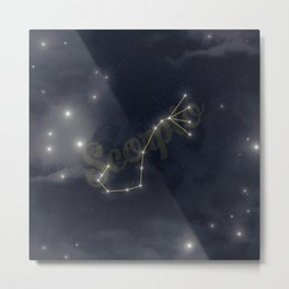 Scorpio Constellation - Zodiac Metal Print