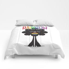 Rainbow Heart Comforters