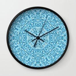 """Magnolia ~ Steel Blue"" - (Original Digital Artwork by Vincent Ferraro) Wall Clock"
