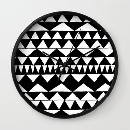 Black Triangles Wall Clock