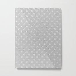 White on Gray Snowflakes Metal Print