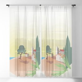 Sunny Calm Sheer Curtain