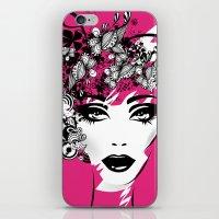 fashion illustration iPhone & iPod Skins featuring fashion illustration by Irmak Akcadogan