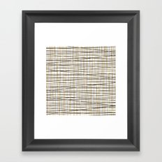 Line Art-Gold and Black Lines on White-Mix and Match with Simplicty of Life Framed Art Print