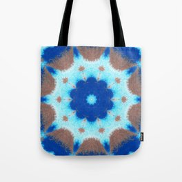 She Dreams Of Blue Flowers Tote Bag