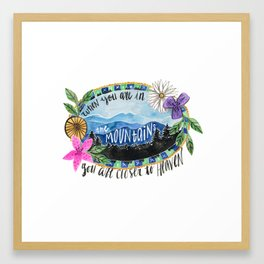 In the Mountains Framed Art Print