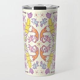 Symmetry Pastelcolor Cute Cats Travel Mug