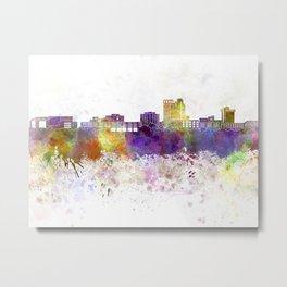 Bridgeport skyline in watercolor background Metal Print
