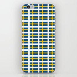 flag of sweden -  Swedish,Sverige,Swede,Stockholm,Scandinavia,viking,bergman, strindberg iPhone Skin