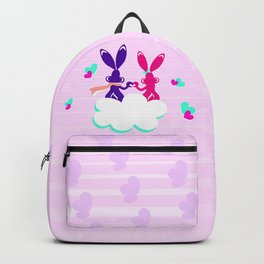 Love is.. / Couple of bunnies in love Backpack