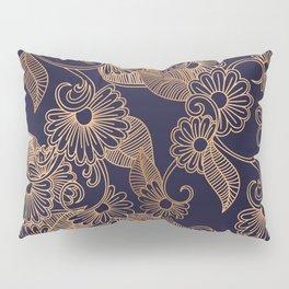 Flower Golden Pillow Sham