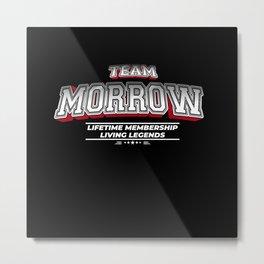 Team MORROW Family Surname Last Name Member Metal Print