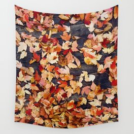 Fall Leafs (Color) Wall Tapestry