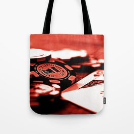Casino Chips & Cards-Red Tote Bag