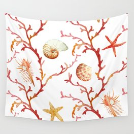 Sea Life Pattern 13 Wall Tapestry