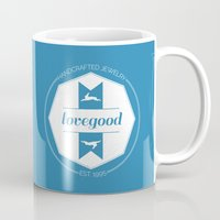 luna lovegood Mugs featuring Lovegood Handcrafted Jewelry by Dorothy Leigh