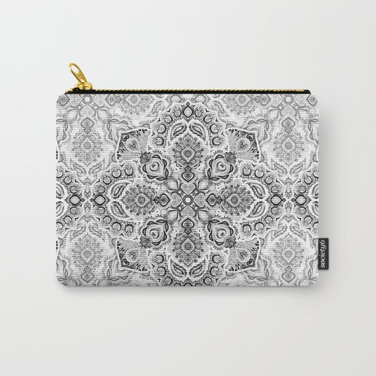 Pattern in Black & White Carry-All Pouch