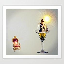 MixMotion: Champagne cocktails  Art Print