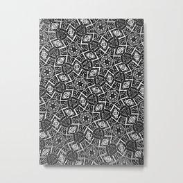Blurry Moorish Nights: Black and White Metal Print