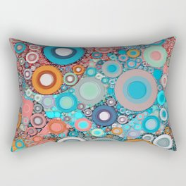 Colorful Abstract optical Ilusion Rectangular Pillow