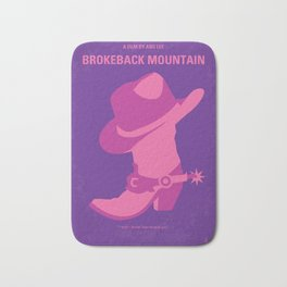 No369 My Brokeback Mountain minimal movie poster Bath Mat