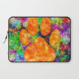 Dog Paw Print Watercolor Laptop Sleeve