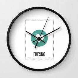I Love Fresno Wall Clock