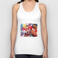 sport Tank Tops featuring sport art- american football by yossikotler