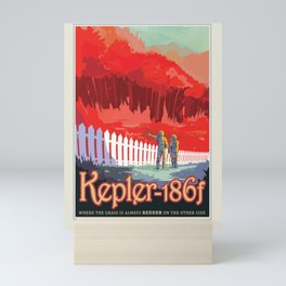 Kepler-186 : NASA Retro Solar System Travel Posters Mini Art Print