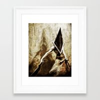silent hill Framed Art Prints featuring Silent Hill Pyramid Head by Joe Misrasi