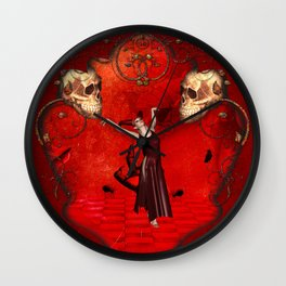 Awesome fantasy women Wall Clock