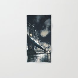 manhattan bridge in nyc Hand & Bath Towel