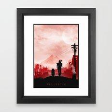 Fallout 4 inspired Poster  Framed Art Print