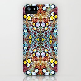 Colorful Gold Circles Pattern iPhone Case
