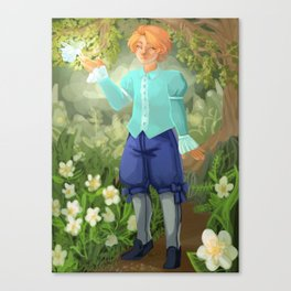 Kyran in Woods Canvas Print