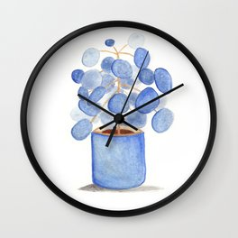 Watercolor Plant in Pot Wall Clock
