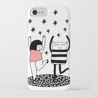 dancing iPhone & iPod Cases featuring dancing by Regina Rivas Bigordá