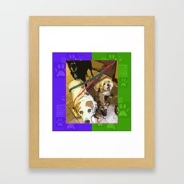 Roz, Buster, Peppy and Jamie Framed Art Print
