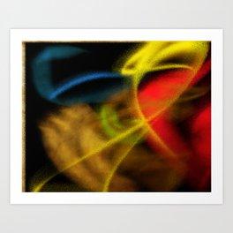 Coram tempestate tranquillitas Art Print