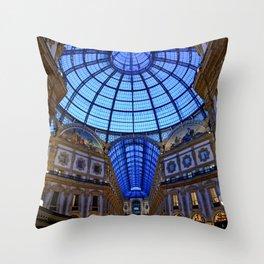Shoping in Milan Throw Pillow