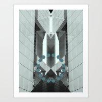 pyramid Art Prints featuring Pyramid by Ubik Designs
