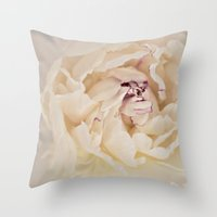 peony Throw Pillows featuring Peony by Artemio Studio
