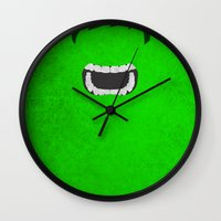 hulk Wall Clocks featuring Hulk by theLinC
