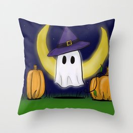 Haunting the Pumpkin Patch Throw Pillow