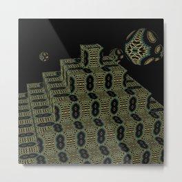 Pyramide Grotesque 33 Metal Print
