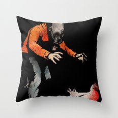 Leroy VS The Zombie Chicken Throw Pillow