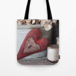 Vintage Heart Vignette Tote Bag