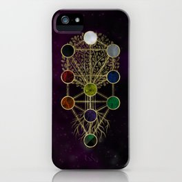 Kabbalah The Tree of Life - Etz Hayim iPhone Case