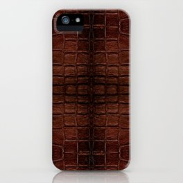 Dark brown snake leather cloth imitation iPhone Case