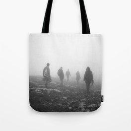 Foggy mountains Tote Bag